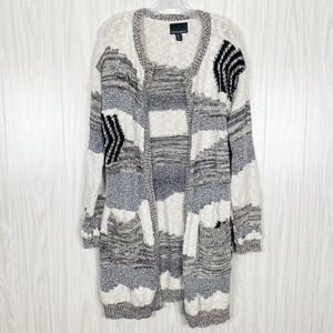 Cynthia Rowley | Open Front Knit Cardigan Size L